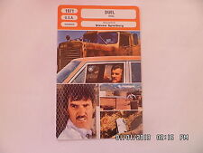 CARTE FICHE CINEMA 1971 DUEL Dennis Weaver Jacqueline Scott Eddie Firestone Seel