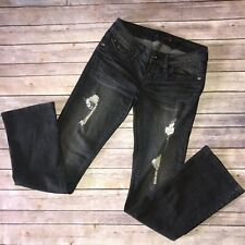G by Guess Jeans Gray Distressed Low Rise Bootcut Size 27