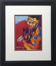"LeRoy Neiman ""Mike Tyson"" Newly Custom FRAMED Art print IRON MIKE Boxing"