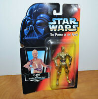 "STAR WARS POTF2 C3PO Action Figure 3.75"" 1995 Kenner Droid"