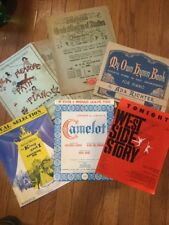 Lot of 7 Vintage Sheet Music 1920-60s West Side Story Camelot King And I School