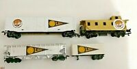 HO Scale Louisiana State  University 4 car train lot  Hand painted and decorated