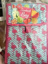 BNIB Insulated  Flamingo Lunch Bag Reusable Outdoor Travel Picnic School Lunch