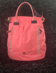 LULULEMON ivivva take me to the gym bag travel in hot pink with shoulder strap
