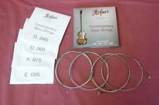 HOFNER SHORT SCALE BASS STRINGS VIOLIN ROUND WOUND FITS BEATLE & CLUB  BASS