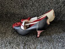 Lola Ramona women ladies Red Black White Stiletto Leather heel shoes Casual xmas