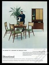 1957 Paul McCobb photo Directional Furniture modern dining table chairs hutch ad