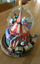 Disney Store Dumbo Musical Snowglobe! Train, Timothy, Circus Tent, Casey Junior