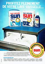 Breweriana, Beer Collectibles Publicite Advertising 054 1986 Sun Entretien Pour Lave Vaisselle