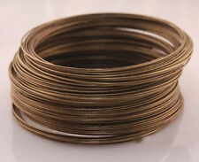 100/500 Loop Silver/Gold Plated Memory Steel Wire For Cuff Bangle Bracelet 0.6mm