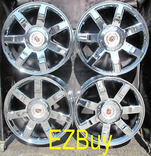 "22"" INCH NEW CADILLAC ESCALADE CHROME WHEELS RIMS 5309 WITH CENTER CAPS SET OF 4"