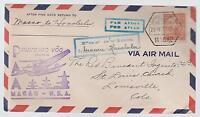 1937  Macau First Flight Cover  to Hawaii Transpacific FFC
