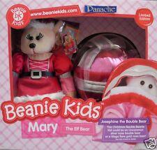 "SKANSEN BEANIE KID MARY ELF & JOSEPHINE BEARS - MUTATION??? BOXED"" MIB NOV 2012"