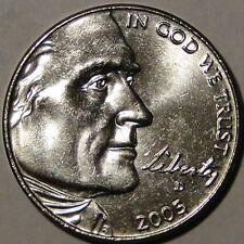 BU United States 2005 D Commemorate Jefferson nickel Westward Journey 5c coin