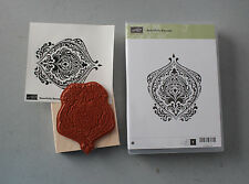 Stampin' Up Beautiful Baroque Wood Unmounted Set Of 1 Retired NEW