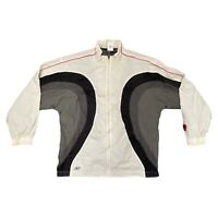 "Reebok Sports Shell Jacket White XL 25"" Mens Track Above the Rim Vintage Coat"