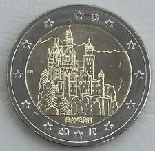 2 Euro Germania J 2012 neuschwans TEIN/Baviera unz