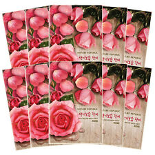 NATURE REPUBLIC Real Nature Mask 23ml X 10 Sheets ROSE for Healthy Clear Skin