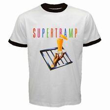 Supertramp English Rock band #A01 Men Ringer T Shirt White S- XXL