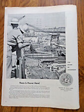 1958 State of New York Ad There is Power Here Mammoth Dam on the St. Lawrence
