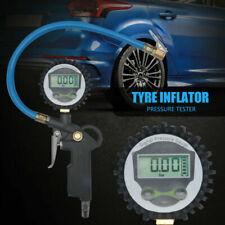 Air Tyre Inflator Pressure Meter Car Truck Tire Pump Hose Gauge Compressor Tools