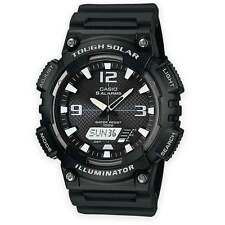 Mens Casio AQ-S810W-1AVEF Dual Combi Analogue & Digital Tough Solar Watch Black