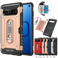 For Samsung Galaxy S10/S10 Plus/Note9 Shockproof Armor Cover KickStand Case