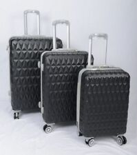 Black Pink Hard Shell 4 Wheel Spinner Suitcase Luggage Trolley Case Bag in S,M,L