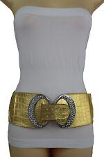 280641395972 Femme Argent Métal Bling Boucle Ceinture Mode Hip Taille Haute or Métallique  M L