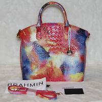 🎁 Brahmin Large Duxbury Dandy Melbourne Satchel Bag Handbag Purse Multicolor