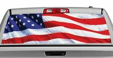 Truck Rear Window Decal Graphic [Flags / US Flag 2] 20x65in DC83901
