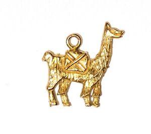 18k yellow gold 3D Llama pendant charm 2.1g estate vintage