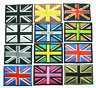 Embroidered Iron On UK Flag Patch Sew On Union Jack British Badge Various Colour