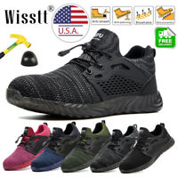 Men Work Boots Steel Toe Safety Shoe Reflective Strips Indestructible Sneakers 9