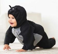 Carter's Baby Boy or GIrl 3 Pc.BLACK BAT Halloween Costume Sz 6-9 months NEW