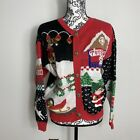 Ugly Christmas Sweater Toy Shop Cardigan M