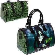 Kreepsville 666 Elvira Zombie Purse NEW Psychobilly Horror Green Glitter Damask