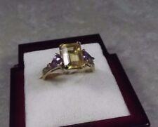 D15-19/ eleganter Ring in 9K / 375 Gelbgold  mit Citrin und Amethyst Gr. ca. 58