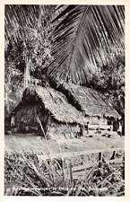 Berg en Dal Suriname Bosnegerwoningen Real Photo Antique Postcard J67931