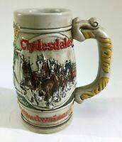 VTG Budweiser Clydesdales Horse Mug Stein Stoneware Brazil Ceramarte Promo