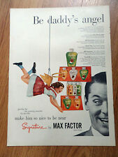 1952 Signature After Shave Cologne by Max Factor Ad Be daddy's Angel