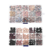 225Pcs 8-15mm Wooden Buttons Sewing 2-holes Button Scrapbooking w/Box DIY Craft