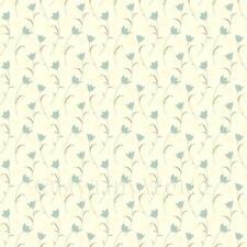 Miniatura Per Casa Delle Bambole Blu Pallido Fiore E Gambo Carta Da Parati