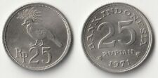 1971 Indonesia 25 rupiah coin with bird