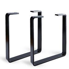 2 x Steel Bench Legs / Powder Coated / Industrial Retro Flat Metal Design