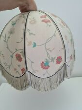 Vintage St Michael Floral Tassels Dome Shape Light Shade Dome Shaped *FLAW*