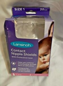 Contact Nipple Shields with Carrying Case, 2 Pack, Size, 20 mm