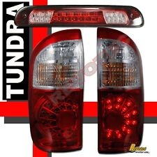 2004-2006 Toyota Tundra Double Cab LED Tail Lights & LED 3rd Brake Lights Red