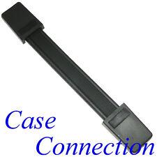 Riemengriff - schwarz - Stahleinlage # Koffergriff Casegriff Strap Handle