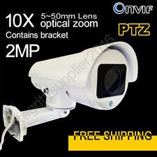 New 2MP Mini PTZ 10x Optics Zoom IP Camera P2P IR Contains bracket 1080P(No POE)
